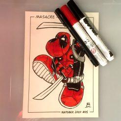Inktober 2020 Masacre Deadpool