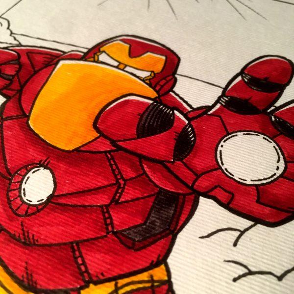 Inktober 2020 Iron man
