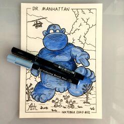 Inktober 2020 Dr. Manhattan Watchmen