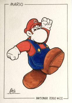 Inktober 2020 Mario Nintendo