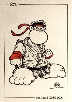 Inktober 2020 Ryu Street Fighter