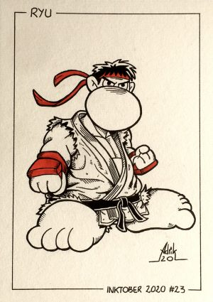 Inktober 2020 Ryu Street Fighter