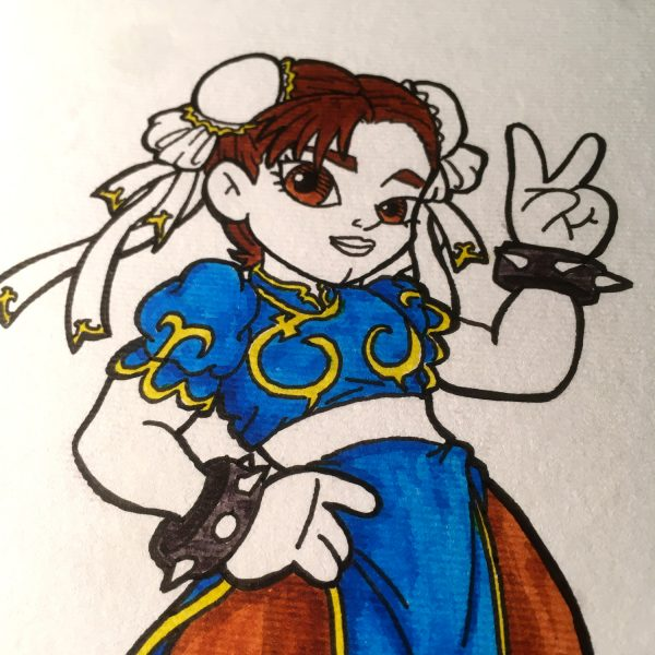 Inktober 2020 Chun-Li Street Fighter