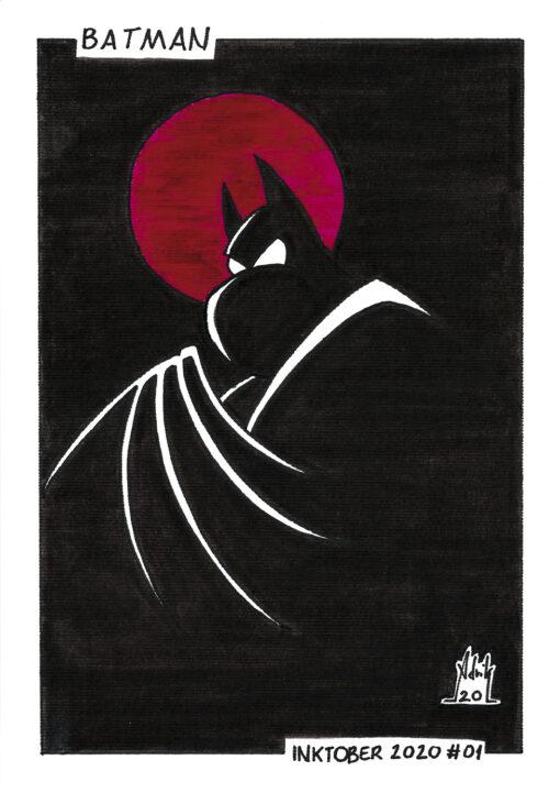 Print Inktober 2020 Batman