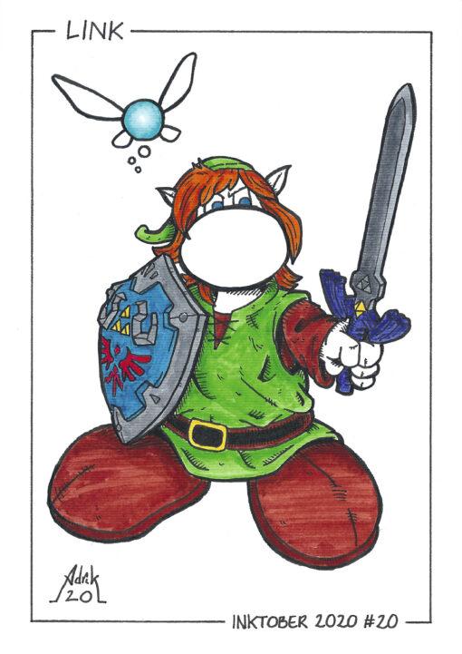 Print Inktober 2020 Link Zelda