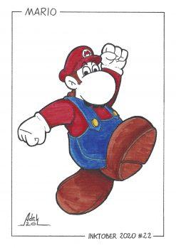 Print Inktober 2020 Mario Nintendo