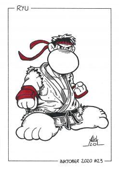 Print Inktober 2020 Ryu Street Fighter