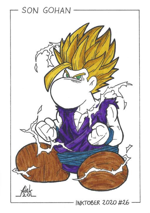 Print Inktober 2020 Son Gohan Dragon Ball