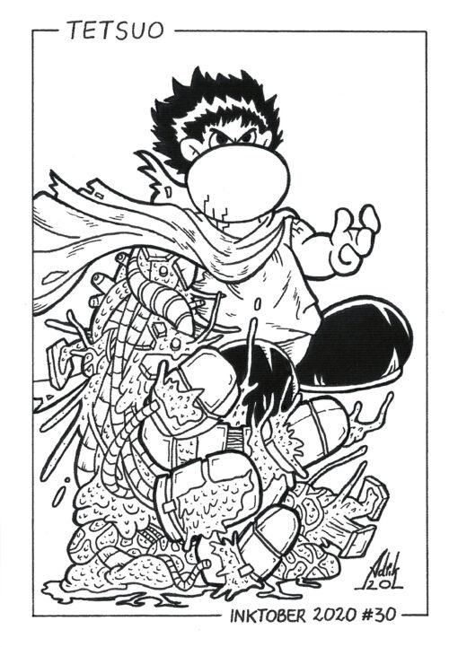 Print Inktober 2020 Tetsuo Akira