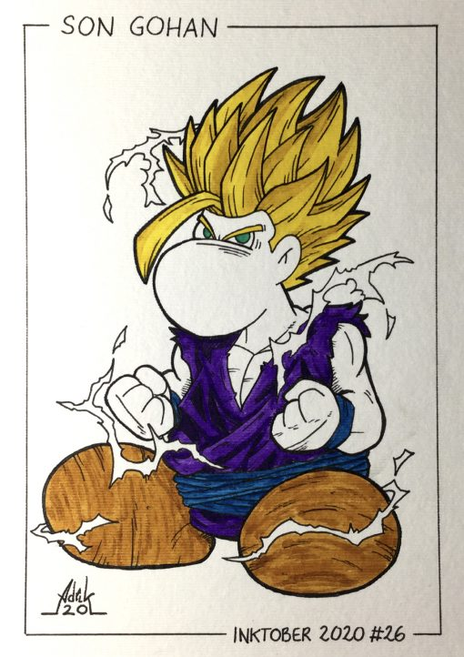 Inktober 2020 Son Gohan Dragon Ball