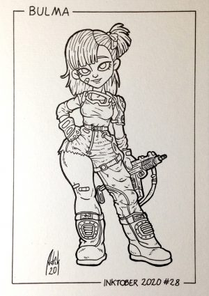 Inktober 2020 Bulma Dragon Ball